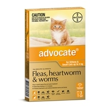 Advocate Cat Up To 4Kg Orange 3 Pack