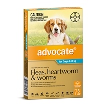 Advocate Dog 4-10Kg Blue 3 Pack