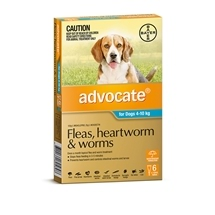 Advocate Dog 4-10Kg Blue 6 Pack