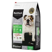 Black Hawk Dog Adult Chicken & Rice 20kg