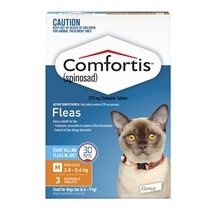 Comfortis Cat 2.8-5.4kg Orange 3 Pack