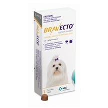 Bravecto Very Small Dog Yellow 2-4.5kg 1pk