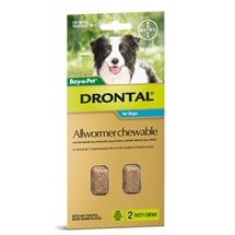 Drontal Dog Chewable 2 Pack 10kg