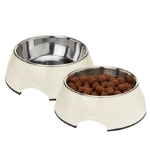 Dog Bowl with Stainless Steel Inner - Set of 2