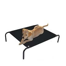 Heavy Duty Black Dog Bed 70 x 55cm