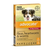 Advocate Dog 10-25Kg Red 6 Pack