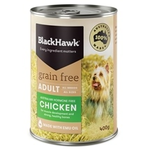 Black Hawk Adult Grain Free Chicken Canned 400g x 12