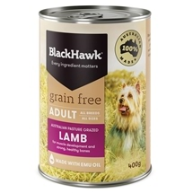 Black Hawk Adult Grain Free Lamb Canned 400g x 12