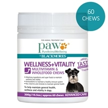 Paw by Blackmores Wellness + Vitality Chews 300g