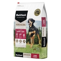 Black Hawk Working Dog Beef & Lamb 20kg
