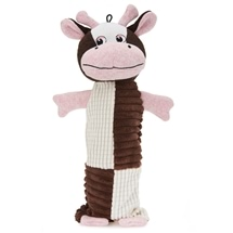 Cow Bottle Buddy Dog Toy