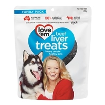 Love Em Beef Liver Treats  250g - Family Pack