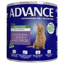 Advance Adult Chicken, Turkey & Rice Cans 700g x 12