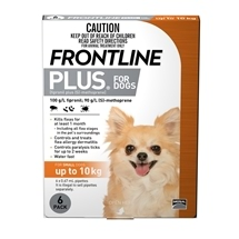 Frontline Plus Dog up to 10Kg Orange 6 Pack
