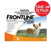 Frontline Plus Dog 10Kg Orange 12 Pack