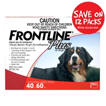Frontline Plus Dog 40-60Kg Red 12 Pack