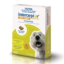 Interceptor Spectrum Chews 4-11Kg Green 6 Pack