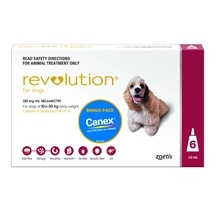 Revolution Dog 10-20Kg Red 6S Pack