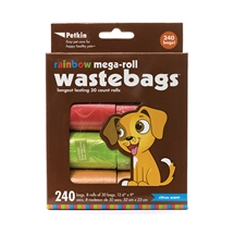 Rainbow Pet Waste Bags 240pcs Citrus Scent