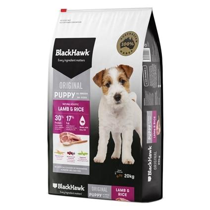 Eukanuba Puppy Food >> Black Hawk Puppy Lamb & Rice 3kg-20kg - House of Pets