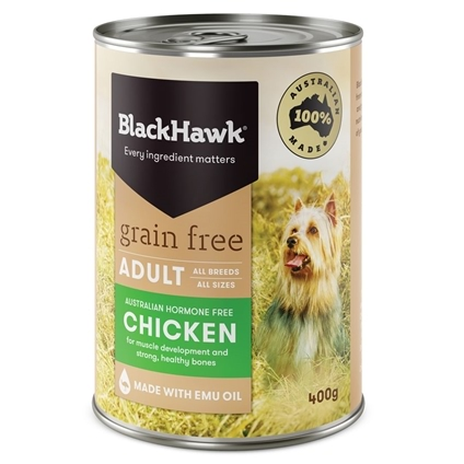 Black Hawk Dog Adult Grain Free Chicken Canned