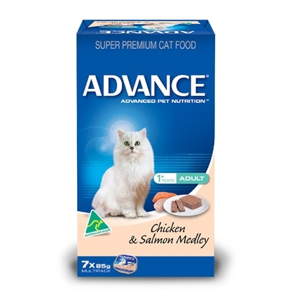 Advance Cat Adult Chicken & Salmon Cans