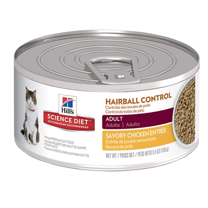 Hill's Science Diet Feline Adult Hairball Chicken Cans 156g x 24