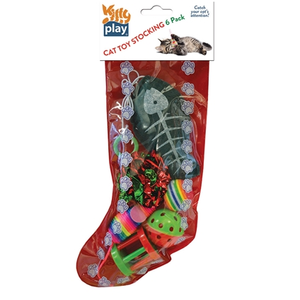 Cat Christmas Toy Stocking