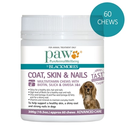 Paw by Blackmores Coat, Skin & Nail Multivitamin Chews