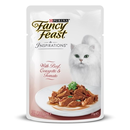 Fancy Feast Inspirations Beef, Courgette & Tomato 70g x 12