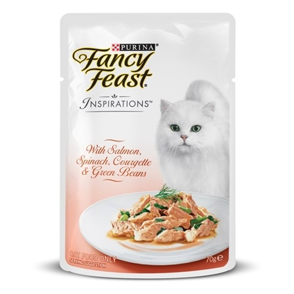 Fancy Feast Inspirations Salmon, Spinach & Beans 70g x 12