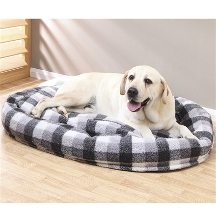 Check Design Round Dog Bed