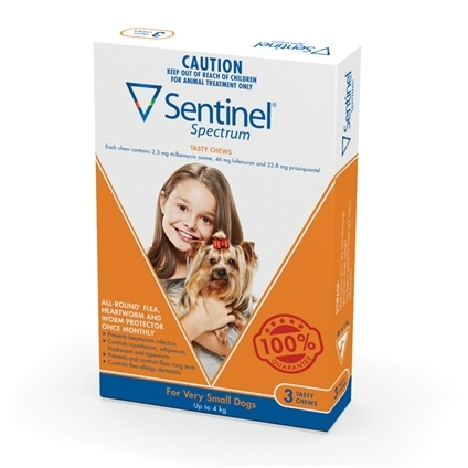 Sentinel Spectrum Dog 3 Pack